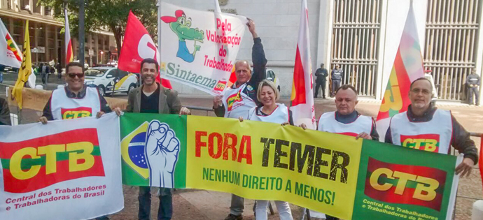 Ato #FORATEMER – 07/08/2017