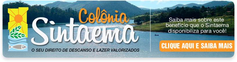 Visite o site da Colônia do Sintaema