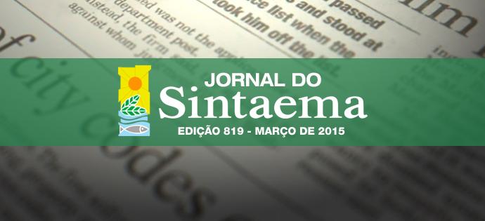 destaque_jornal_sintaema_edição 819 - março de 2015