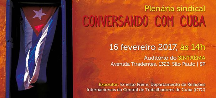 PLENÁRIA SINDICAL CONVERSANDO COM CUBA