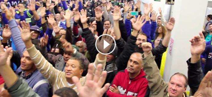 Vídeo: Votação na assembleia dos trabalhadores da Sabesp – 13/06/2017