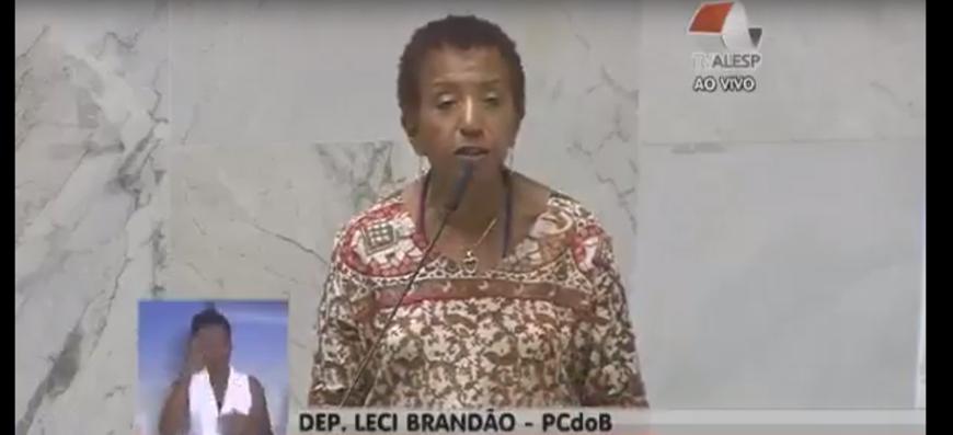 Deputada Leci Brandão (PCdoB) defende trabalhadores da Fundação Florestal em pronunciamento