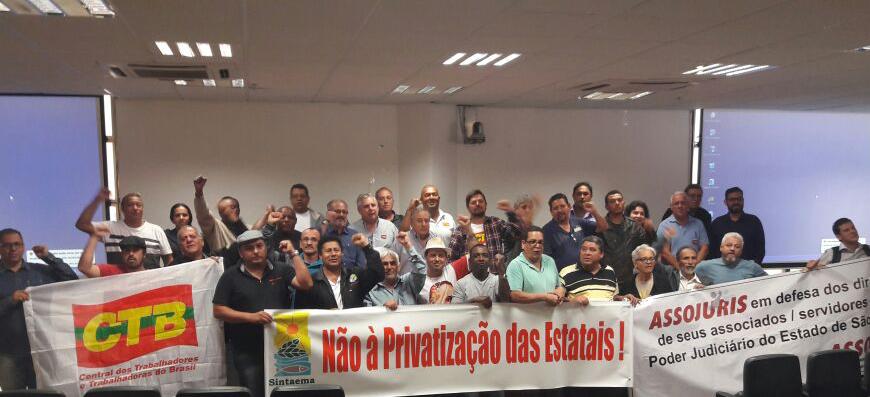 Não à privatização: Em defesa das estatais