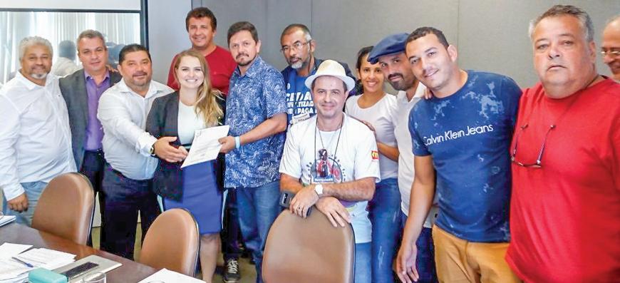 Delegação do Sintaema entrega propostas de NR para o saneamento a representantes do Ministério do Trabalho