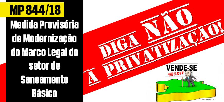 Mais um golpe: a privatização do saneamento público