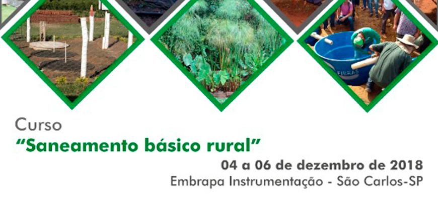 """Curso """"Saneamento básico rural"""" – 04 a 06/12/18 – Embrapa Instrumentação – São Carlos/SP"""
