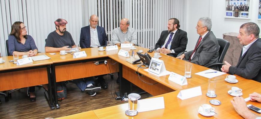 Sintaema se reúne com o novo presidente da Sabesp