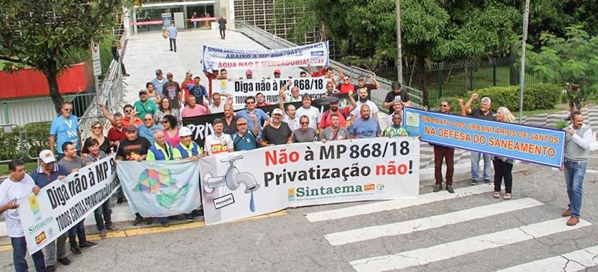 MP 868/18 – Sintaema entrega carta aos deputados contra a privatização do saneamento