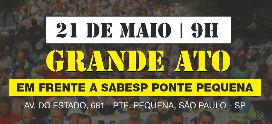 ➤ Grande ato em frente a Sabesp Ponte Pequena – NÃO À MP-868 – PLV 8/2019!
