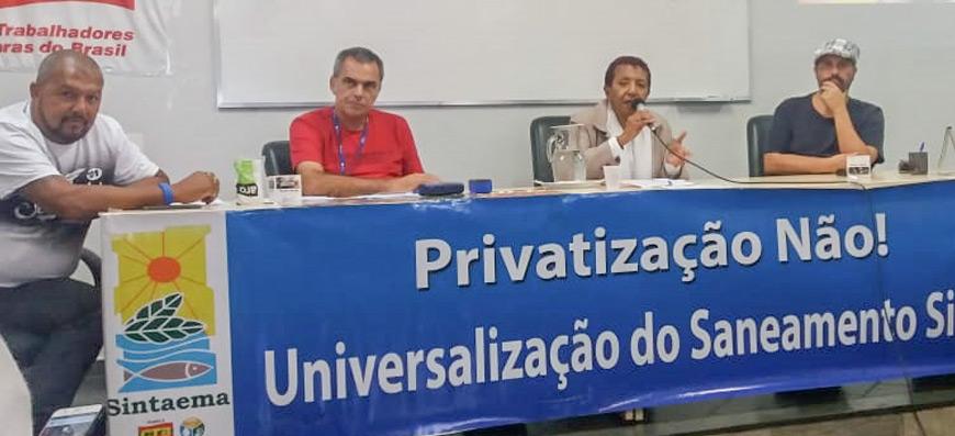 Não à privatização – Juntos na luta com Leci Brandão