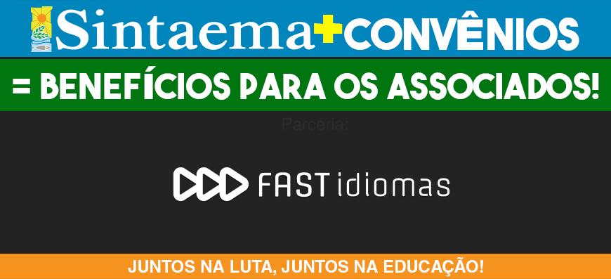 Convênio – Sintaema e Escola Online Fast Idiomas tem um presente para você sócio!