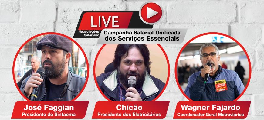 Live: Campanha Salarial Unificada dos Serviços Essenciais