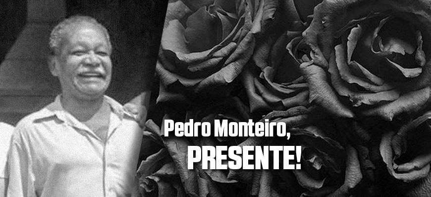 Nota de falecimento   Pedro Monteiro