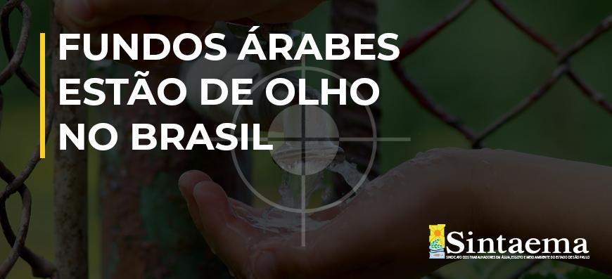 Saneamento | Fundos árabes estão de olho no Brasil