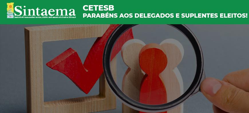 Cetesb | Parabéns aos delegados e suplentes eleitos!
