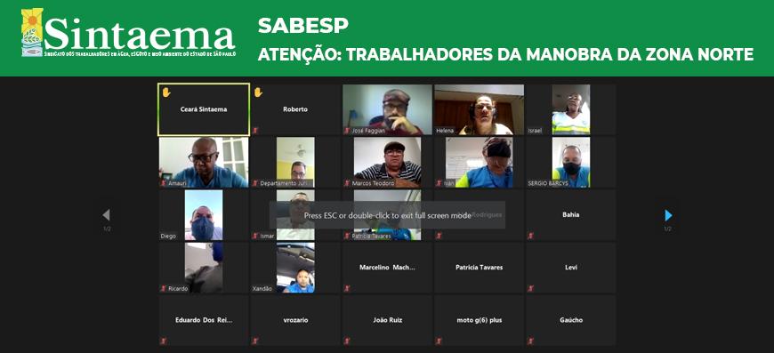 Sabesp | Atenção, trabalhadores da manobra da Zona Norte,…