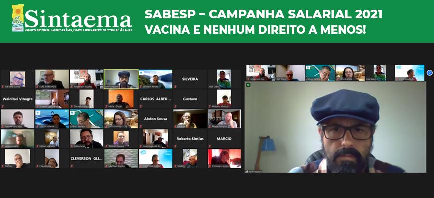 Sabesp – Campanha salarial 2021 | Vacina e nenhum…