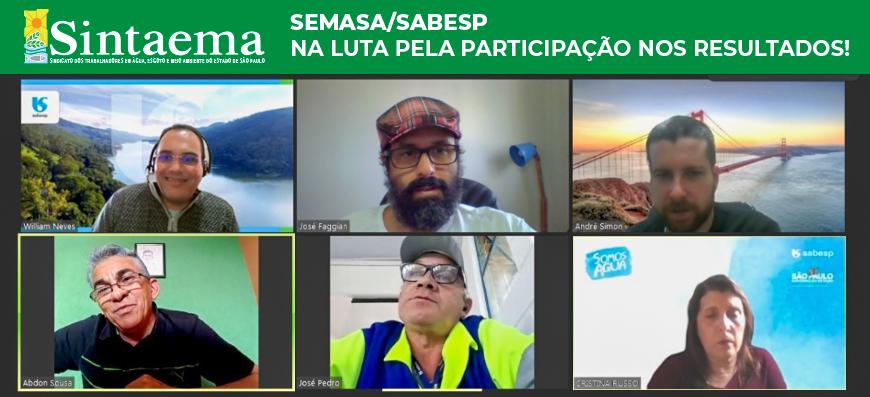 Semasa/Sabesp | Sintaema na luta pela Participação nos Resultados