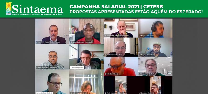 Cetesb – Campanha Salarial 2021 | Proposta está aquém do esperado, é preciso avançar!