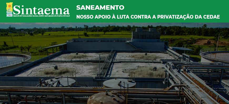 Saneamento | Nosso apoio à luta contra a privatização…